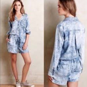 cloth & stone Shorts - CLEARANCE Cloth & Stone Chambray Romper S